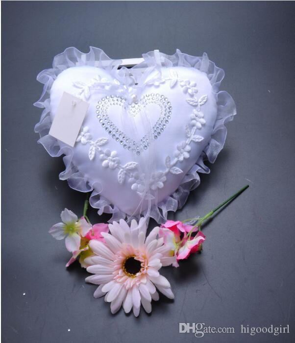 Sell heart-shaped western wedding Ring Pillows to white lace lace wedding Bride ring box wedding accessories