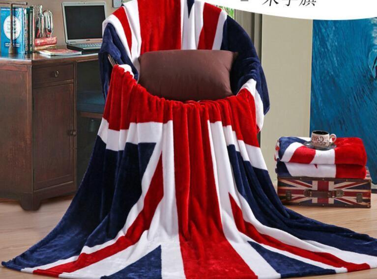 Couverture de Cachemire De luxe hiver Épaissir drapeau britannique flanelle canapé cadeau de Noël couverture de velours voyage couverture multifonction
