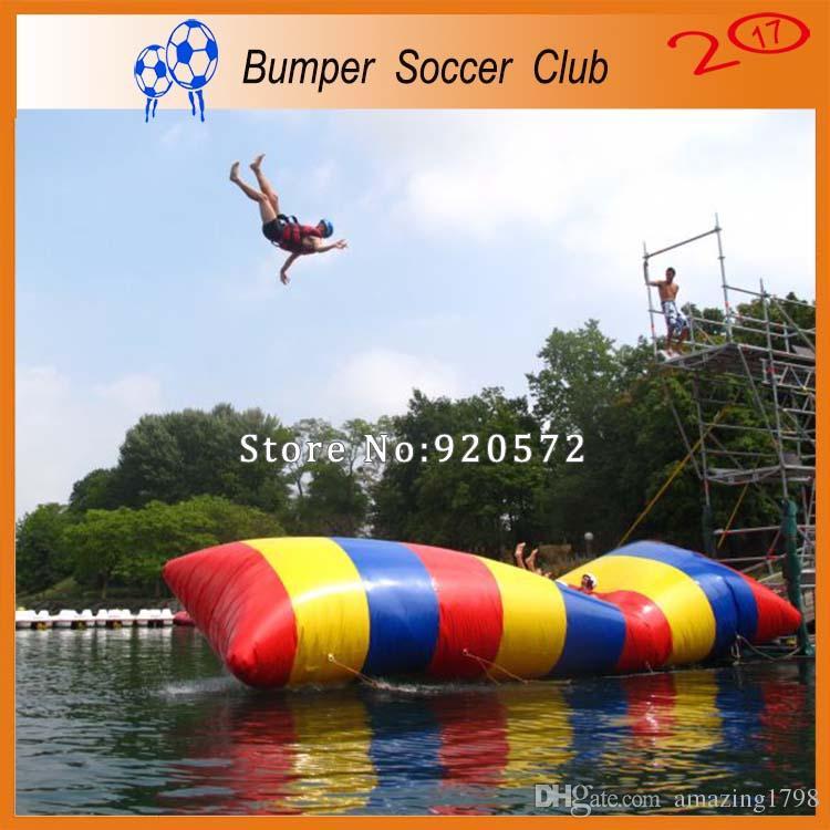 شحن مجاني 5x2 متر نفخ فقاعة الماء القفز وسادة فقاعة الماء القفز حقيبة نفخ الترامبولين المياه للبيع