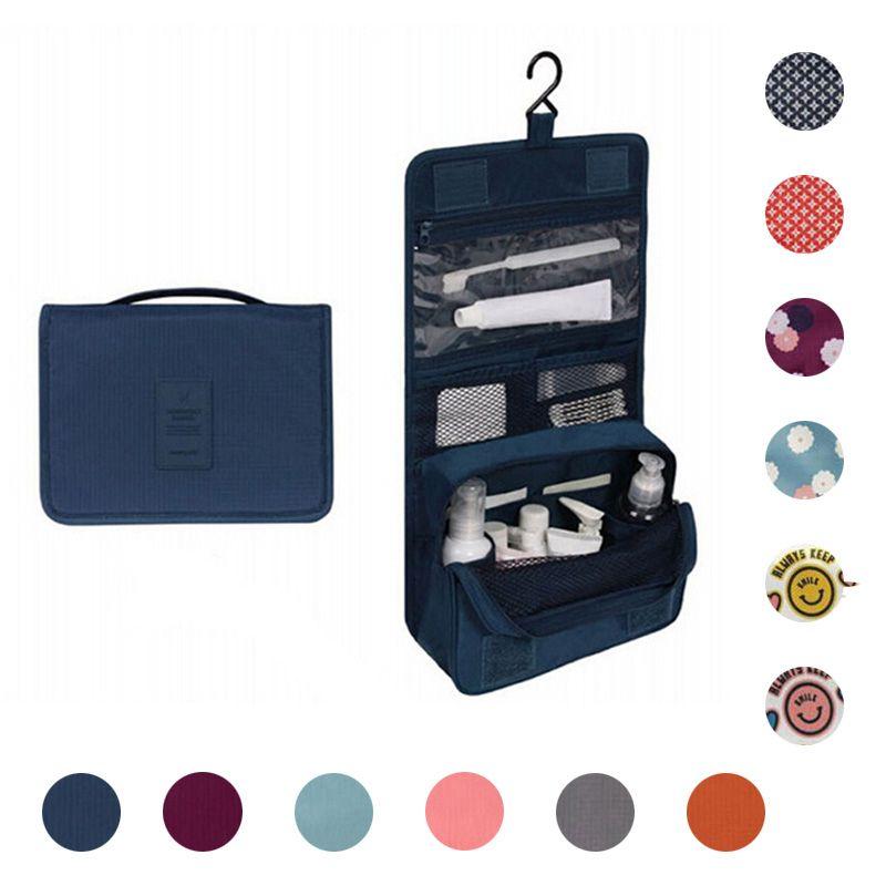 Creative Printing Makeup Bag Unisex Portable Waterproof Multifunctional Hook Cosmetic Travel Bag Hanging Toiletry Wash Bag