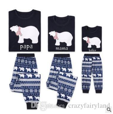 Christmas Pajamas Family Matching Outfits Christmas Polar Bear Sleepwear  Mother And Daughter Father Son Matching Clothes Xmas Homewears Sibling