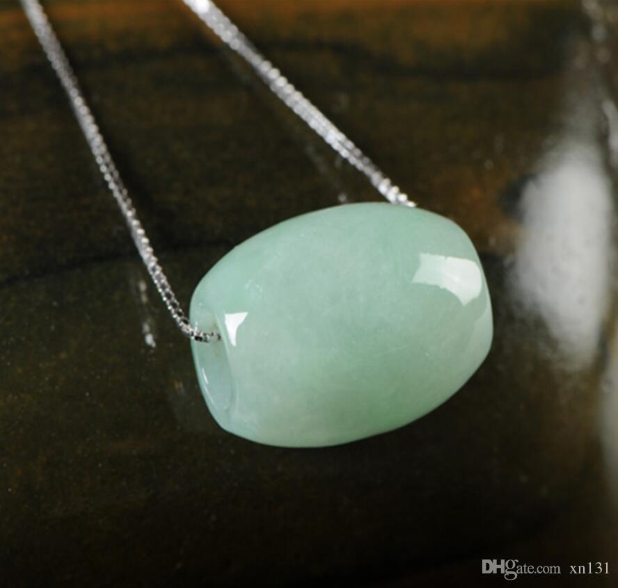 Direto da fábrica natural A carga jade contas de transferência de gelo tipo jade luz verde jade road pass jade pingente de cinto
