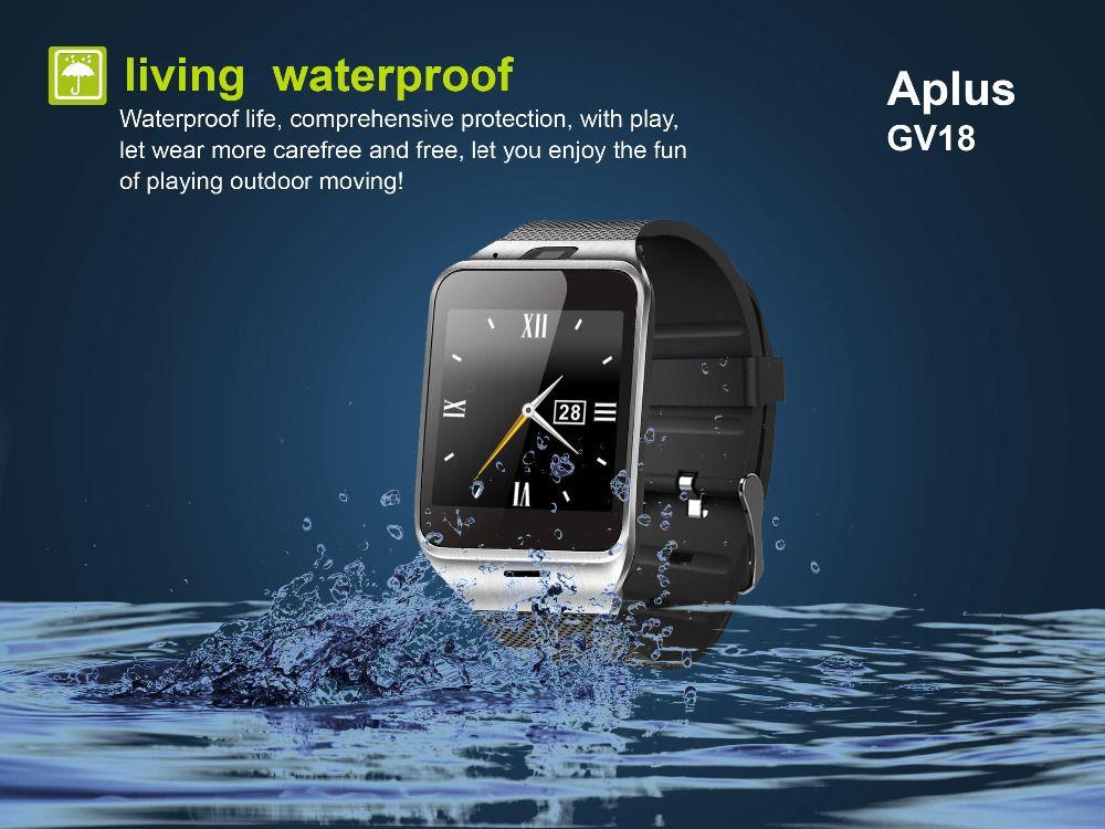 Gv18 смарт-часы водонепроницаемый Bluetooth Smartwatch наручные Android Montre Connecter NFC носимых устройств с SIM-картой