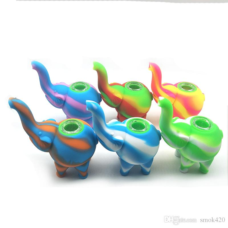 Compre Patron Elefante Originales De Mini Tubos De Burbujeo Del Agua De Colores Multiples Plataformas Aceite De Silicona Bongs Pipas De Agua Glass Bowl A 3 21 Del Smok420 Dhgate Com