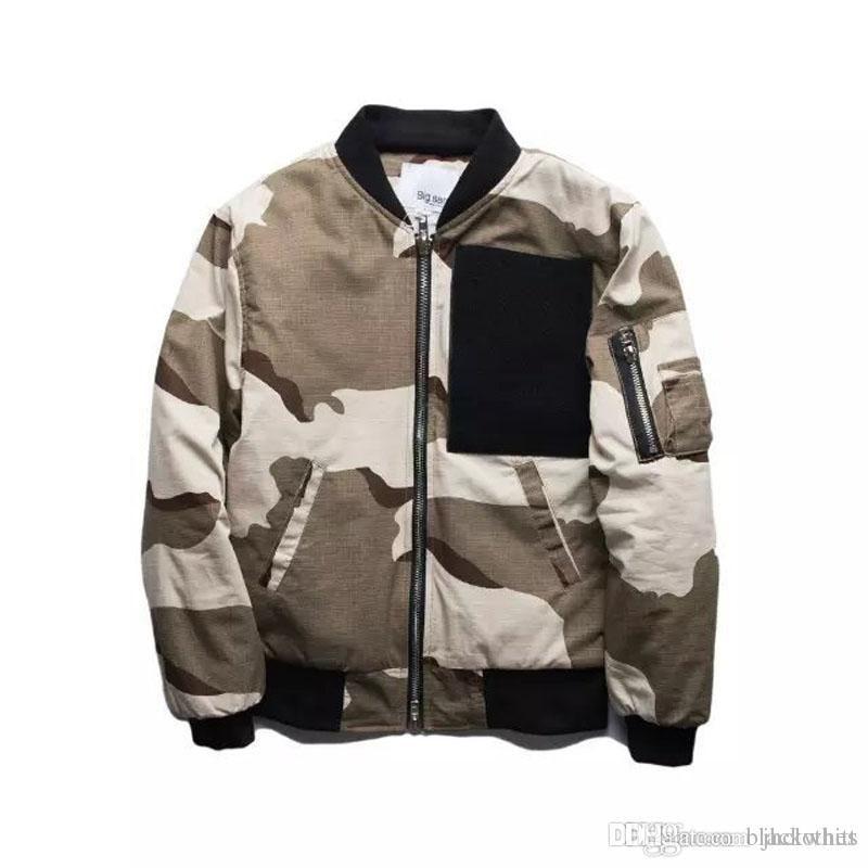 Новая мода Марка Пески цвет камуфляж куртка MA1 бомбардировщик пилот куртка зима толщина кардиган пальто мужская мода куртки свободный корабль