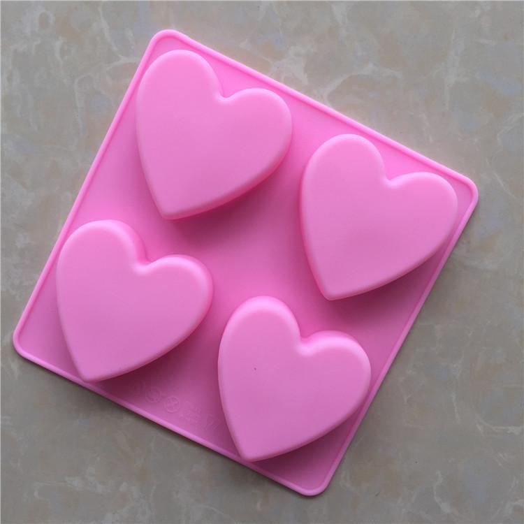 DIY كوك العفن عاشق قسم سلسلة هدية 4 حتى الحب هلام السيليكا كعكة نموذج مهلبية جيلي نموذج لينة