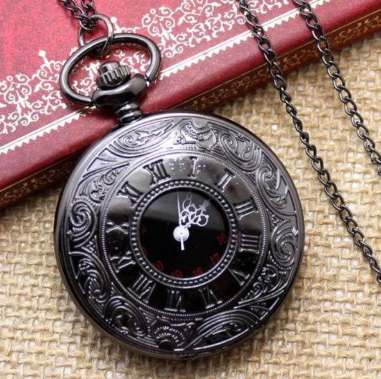 뜨거운 판매 스타일 빈티지 올드 골동품 펜던트 주머니 시계와 함께 목걸이 체인 생일 선물 크리스마스 새해
