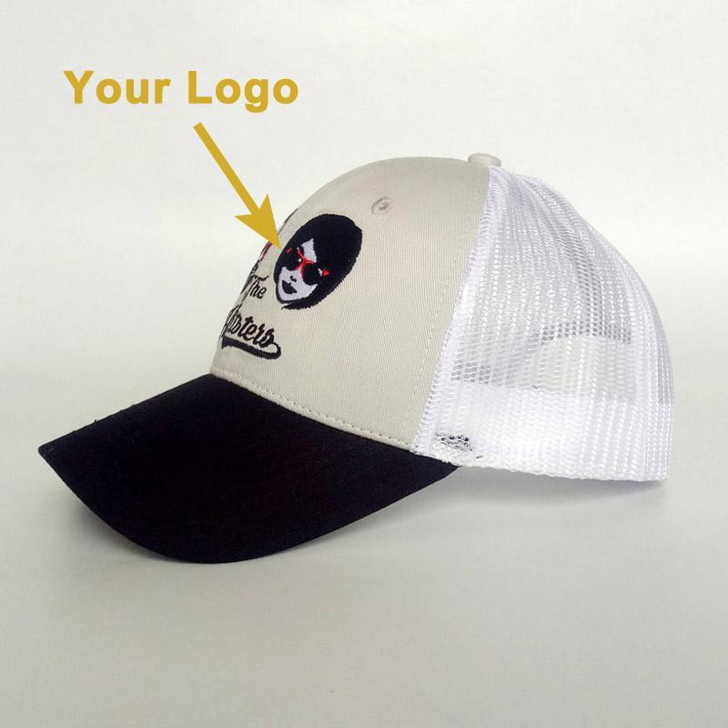 Kavisli vizör örgü geri küçük moq giyim aksesuar hediye şapka kaliteli toptan popüler kamyon şoförü kap özel şapka beyzbol spor kapaklar