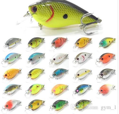 8.3cm 14.3cm 사각형 지폐 뚱뚱한 몸 크기 큰 소리 1 미터 깊이 # 4 트레블 훅 모듬 색상 Crankbait Fishing Lure C429