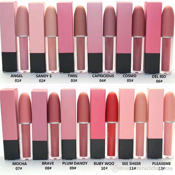 2020 maquiagem Matte Lip Gloss Matte Líquido lábios batom Lip Gloss 12 cores Boa qualidade DHL frete grátis