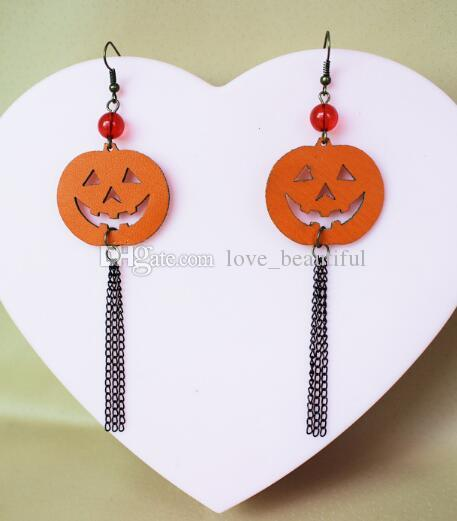 Hot Style New European et American Halloween boucles d'oreilles gland tête de citrouille festival boucles d'oreilles chic élégance classique
