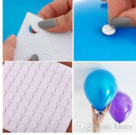 100 نقطة مرفق البالون الغراء نقطة إرفاق البالونات إلى ملصقات الحائط بالون السقف أو