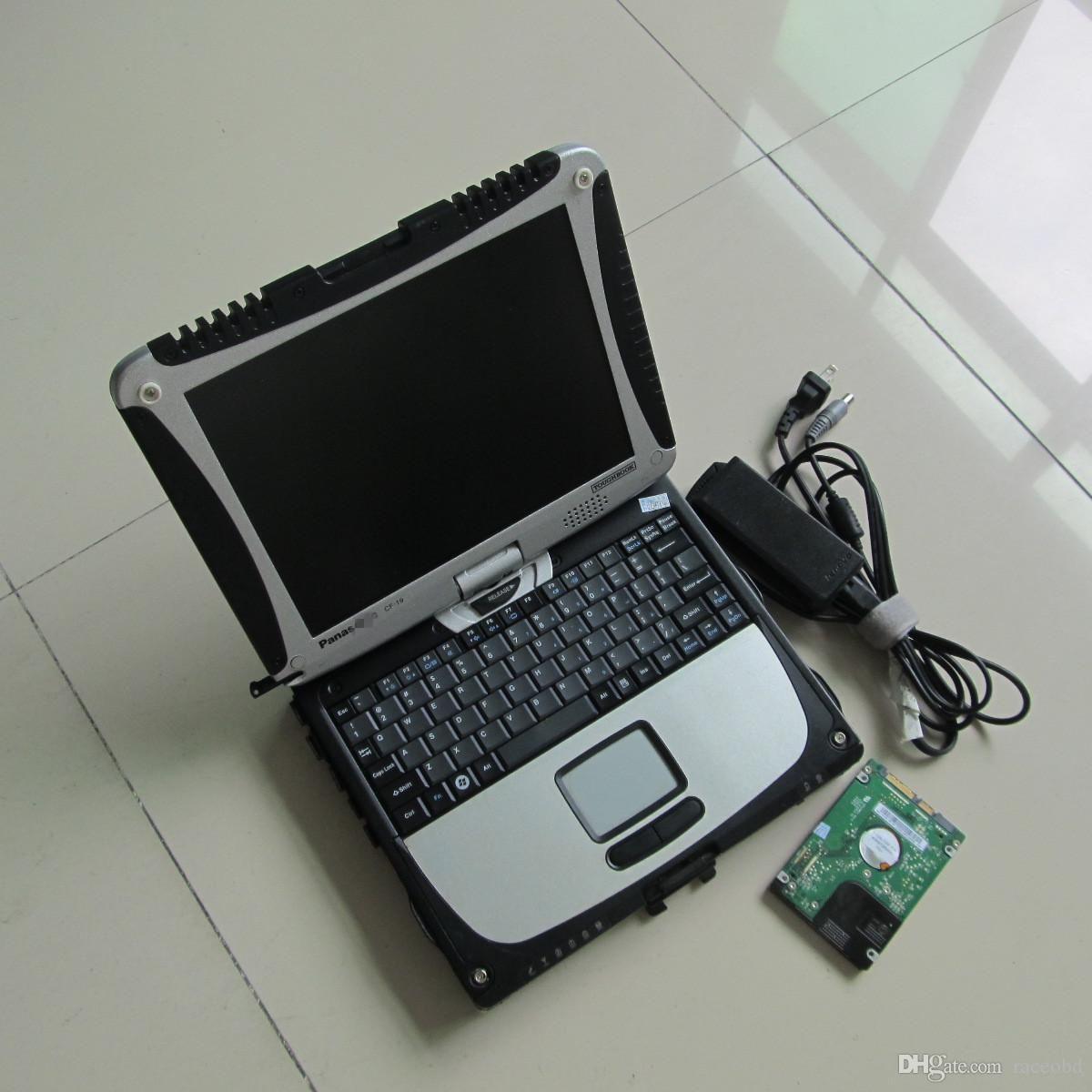 Più nuovo MB Star C4 C5 HDD Software Auto Strumento Auto con Toughbook CF-19 Laptop pronto all'uso Das Xentry EPC WIS in computer touch screen diagnostico