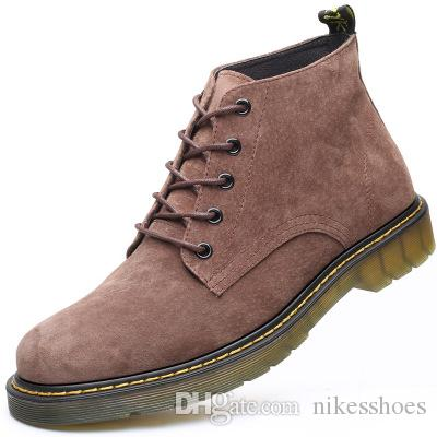 New fashion leather boots Vintage MENS CASUAL BOOTS men boots all-match shoes