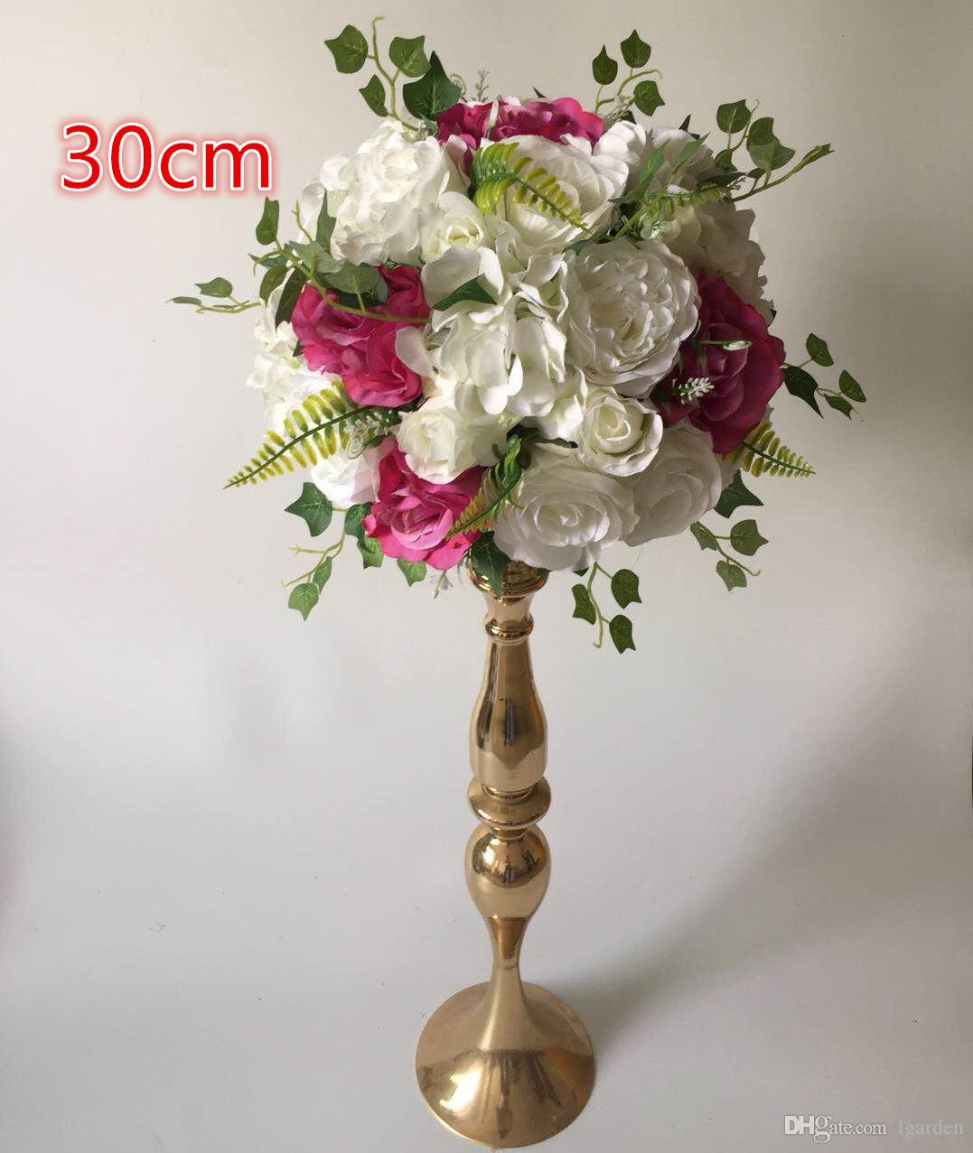 Plante artificielle en soie rose table centre fleur pour arche de mariage carré gazebo coin décoration