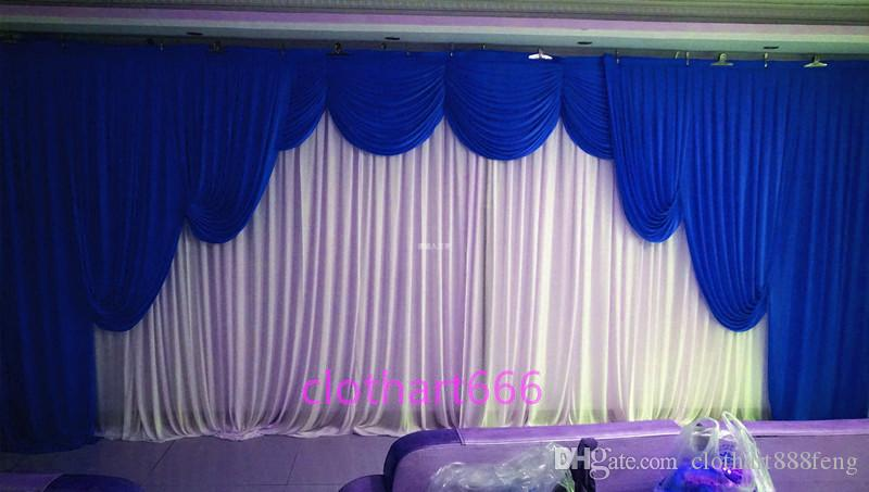 3M*6M Wedding Backdrop With Swags Curtain Decoration Background For Wedding  Decoration Stage Backcloth With Swags Party Streamers Party Stuff From