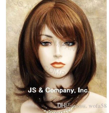 Cabello humano Mezcla Medio Recto Auburn MIx Peluca HEAT SAFE Hair wma 27-4-30