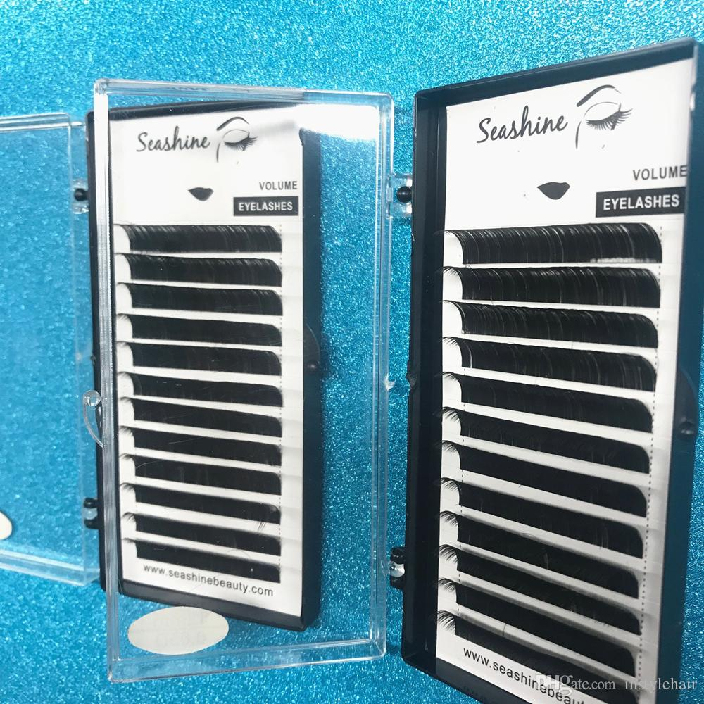 Seashine Lashes 러시아 볼륨 Premade Fans 개별 속눈썹 확장 OEM 12Rows / Lot Lothes Extension 무료 배송