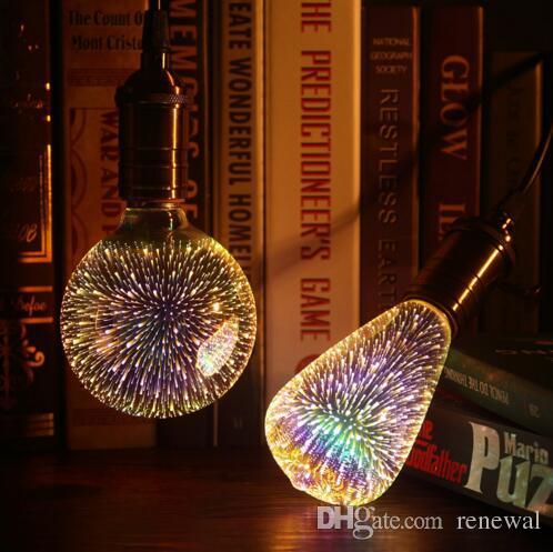Lampadina a led Lampadina 3D Decorazione lampadina E27 6W 110-220V Luci per vacanze ST64 G95 G80 G125 A60 Novità NOVITÀLAMPAPLAMPLAMS LAMPARAS