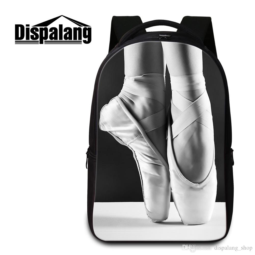 Ballet Toe Shoe Laptop Backpacks for Girls Cute School Bags Fashion Bookbag for Middle School Students Travel Back Pack Mochila Escolar Kids