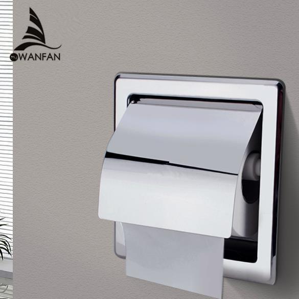 Держатели бумаги современный полированный хром из нержавеющей стали ванная комната держатель туалетной бумаги Настенное крепление туалетной бумаги рулон бумаги коробка ткани BK6806-13