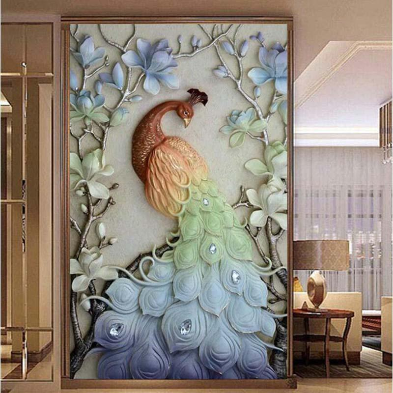 5D DIY Special Shaped Diamond Painting Cross Canvas Stitch Mosaic Art Wall Decor