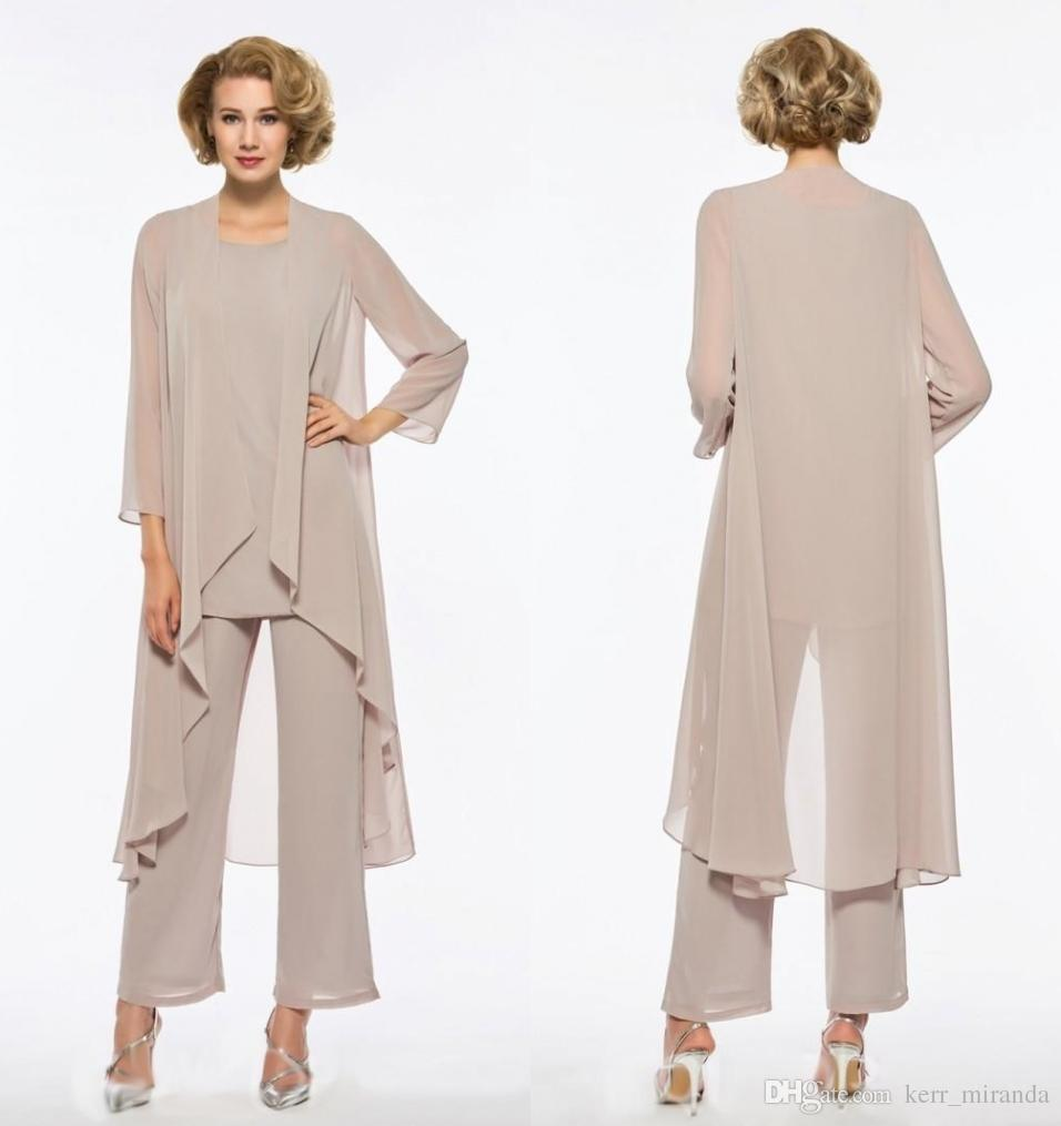 Plus Size Mother Of The Bride Pant Suit Chiffon For Beach Wedding Dresses  Mother\'S Dresses Long Sleeves Cheap Mothers Formal Gowns Mother Of The  Bride ...