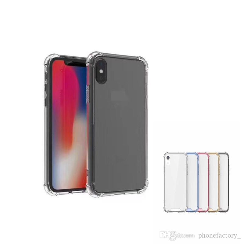 Shock Proof TUP Soft Case For iphone XS MAX / XS / XR X 8 7 6 Back Clear CASE For Samsung S8 J7 Prime