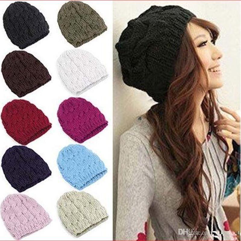 Hot sales Fashion Women Men Winter Warm Knitted Crochet Skull Beanie Hat Caps 8 Colors M059