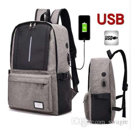 17 17.3 pouces avec interface USB étanche en nylon pour ordinateur portable sac à dos pour ordinateur portable Sacs affaire sac à dos scolaire pour hommes femmes étudiant voyage