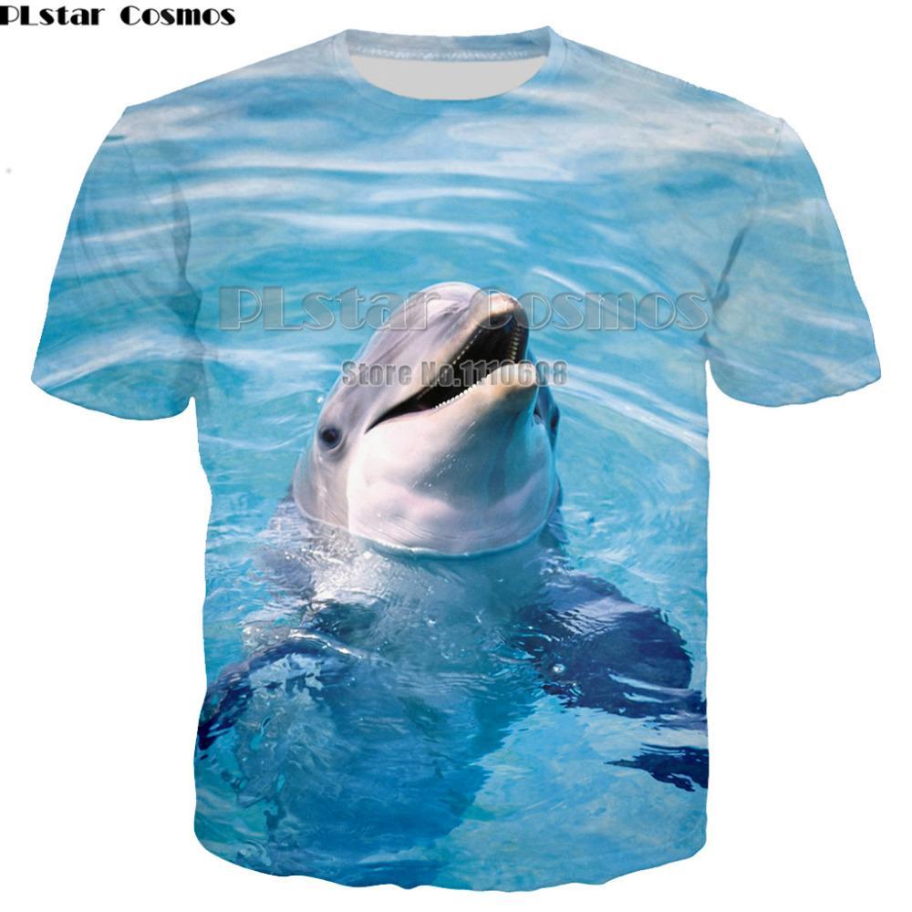 PLstar Cosmos New Stylish dolphins Print T-shirt Men/Women Brand Tshirt Fashion 3d T shirt Summer Tops Tees Plus Size S-5XL