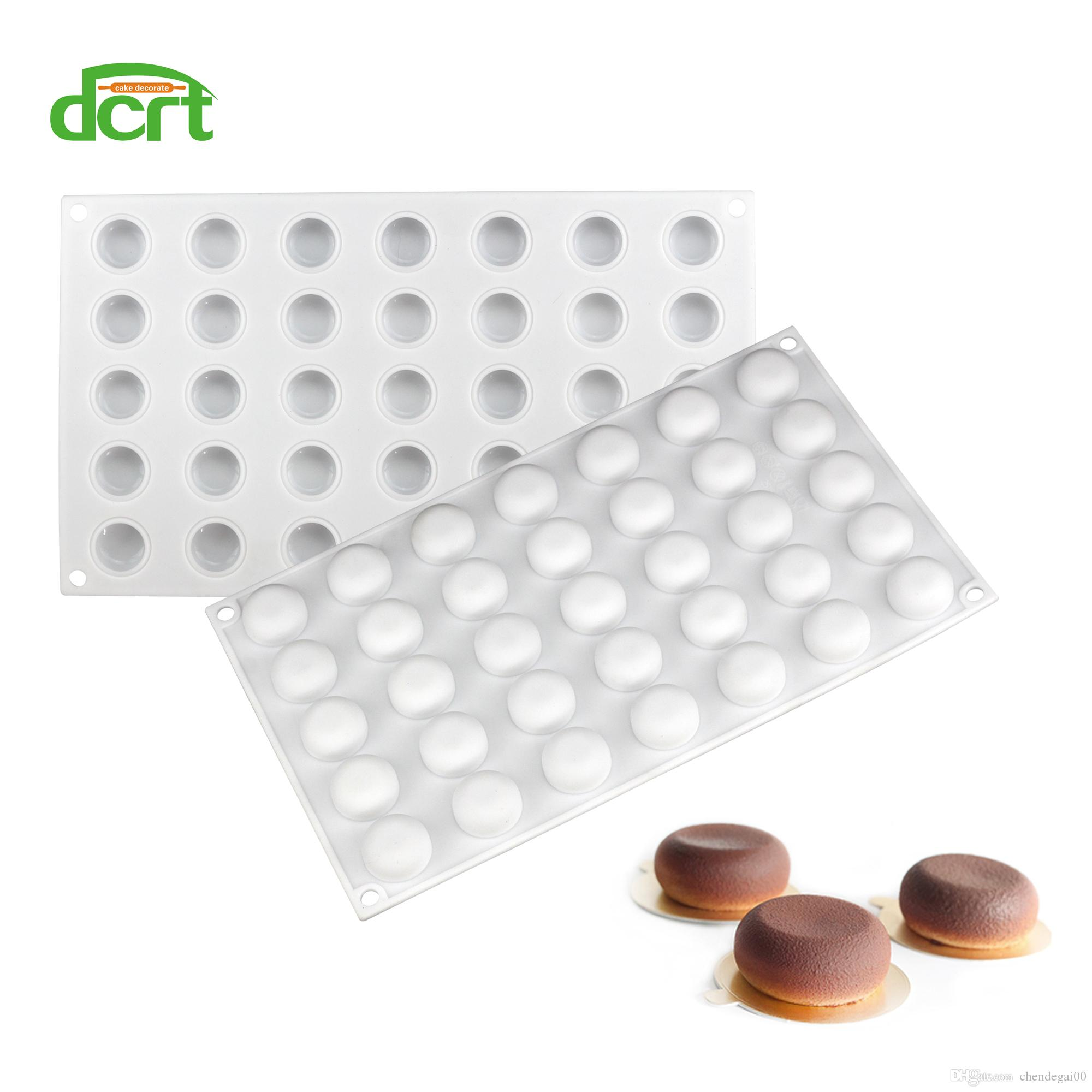 3D Silicone Round 35 Cavity Cake Mold Dessert Mould Decorating Baking Tools for Chocolate Pudding Jelly Soap Pastry Tools