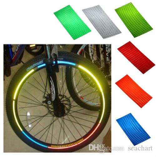 Reflective Stickers for Bicycle Adhesive Tape for Bike Safety Bike Accessor LM