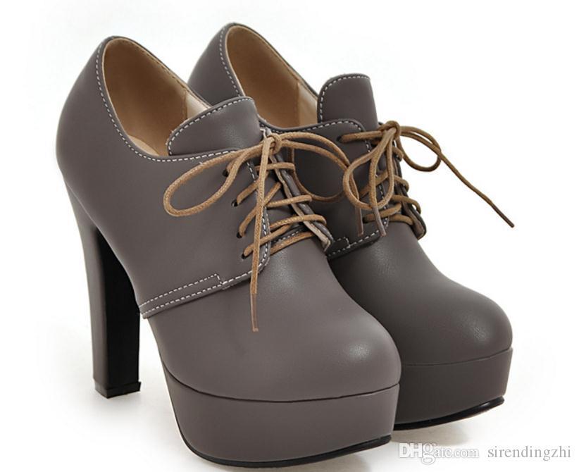 Envío gratis caliente coreano grueso talón solo zapatos de tacón alto zapatos de mujer de gran tamaño 43 44 45 46 47 yardas