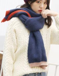 In the fall and winter of the new 2018 imitation cashmere scarf women Japan and South Korea fan double-sided warm pure color
