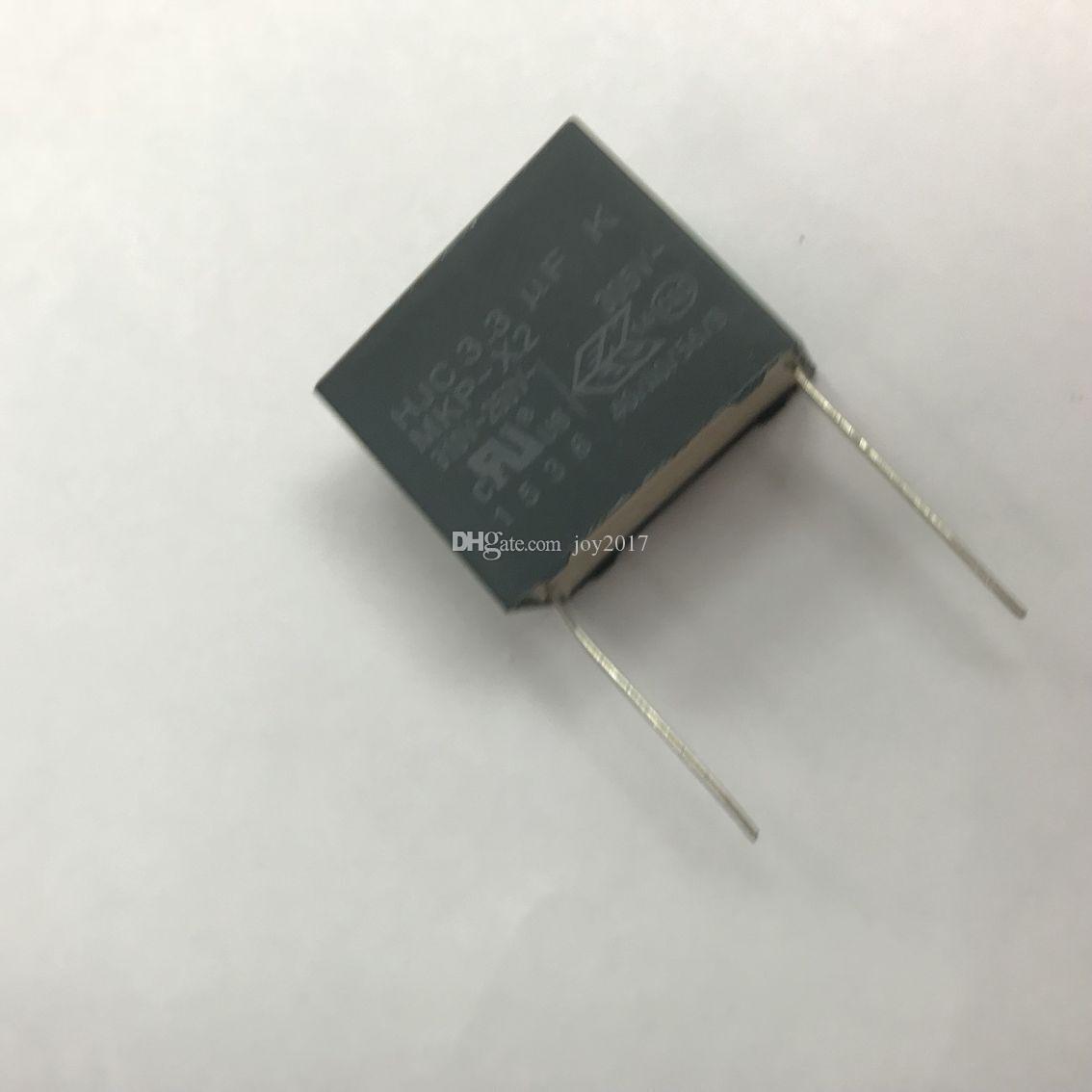 Freies shipping3.3UF 275 V AC X2 275 VAC335K 305 V 27 MM HJC3. 3UF olypropylen film kondensator X2 kondensator 10 TEILE / LOS