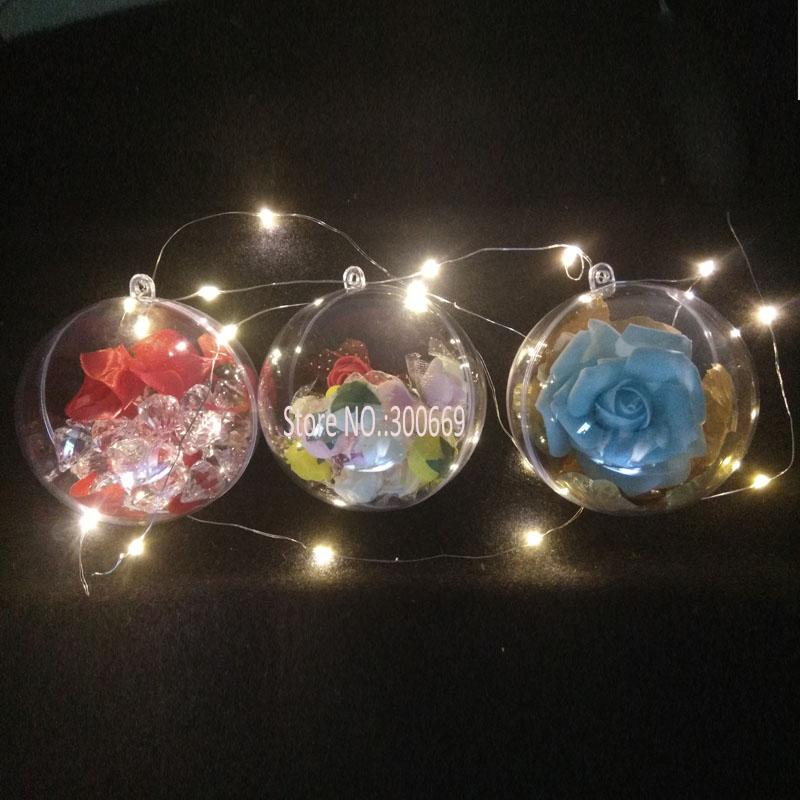 Hot Sale ! Christmas Tress Hanging Decorations Ball Transparent Open Plastic Clear Ornament Kids Favors Party Supplies
