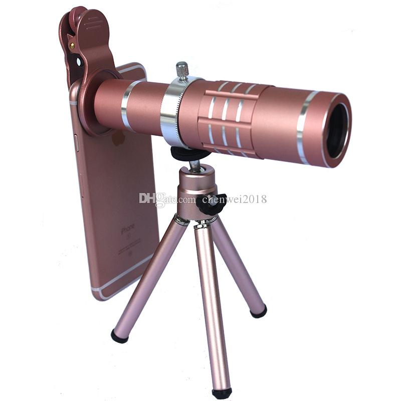 Universal Clip 18X Zoom Optical Metal Telescope HD Mobile Phone Telescope Telephoto Camera lens with Tripod For iPhone Sumgung Huawei Xiaomi