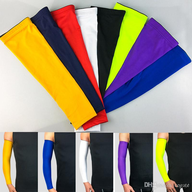 Solid cycling arm sleeve Sports Sleeves for softball, baseball Compression arm sleeve