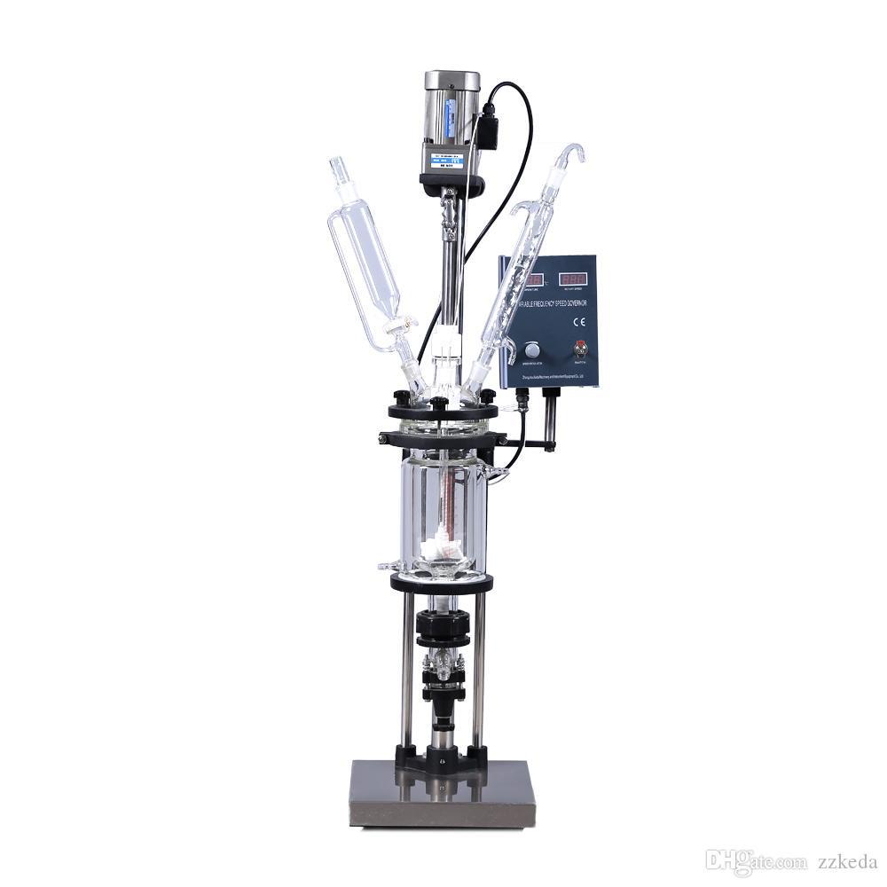 Лабораторное оборудование S-1L Высокоэффективный Lab Химические Термические Суда Реактивная рубашкой стеклянный реактор, Экспериментальный завод Производитель
