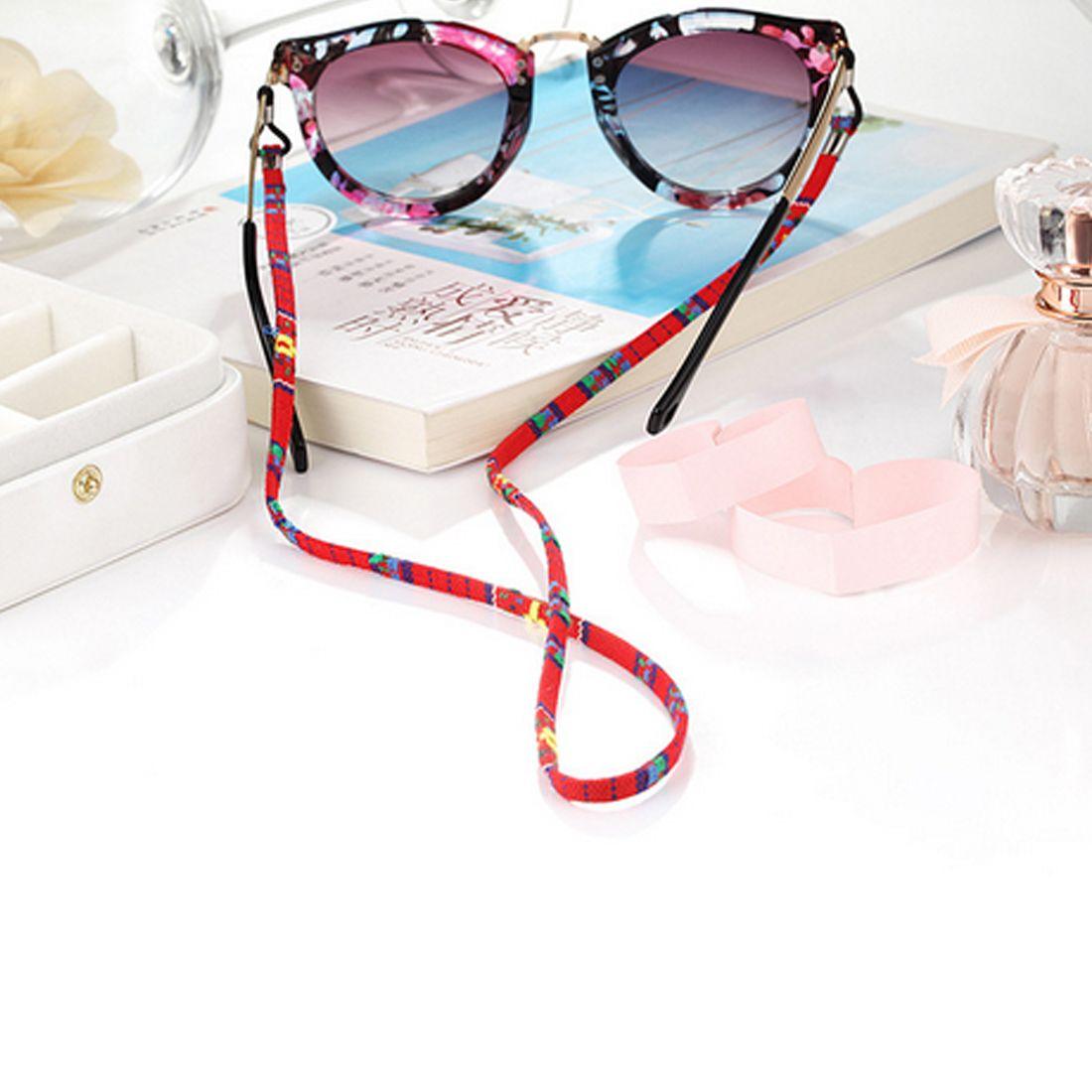 النظارات النظارات الشمسية القطن الرقبة الحبل سلسلة التجنيب حزام حامل نظارات الحبل مع حلقة سيليكون جيدة