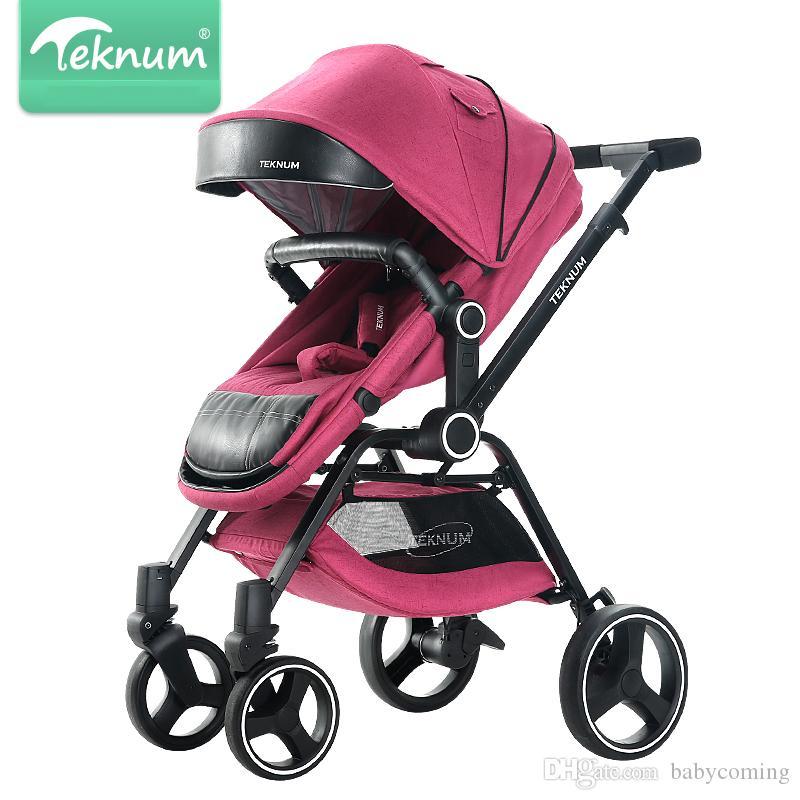 Bebé plegable de la moda cochecito puede sentarse reclinación, ligero cochecito de bebé de 0-3 años de edad, recién nacido cochecito de bebé, niño de la compra