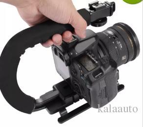 Hot Promotion Sale Light U-grip Triple Shoes Installation Video Action Stabilizer Handle Grip Free