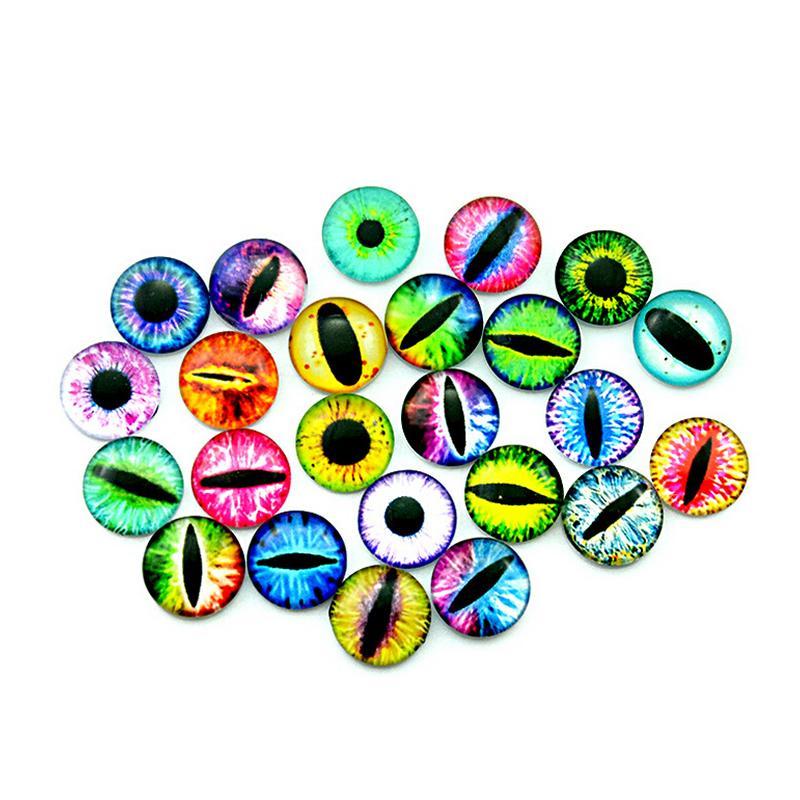 20Pcs 12MM / 16MM / 20MM Glass Dolls Eye DIY Craft Eyes para el juguete Dinosaurio Animal Eye Time Gem Accesorios No autoadhesivo