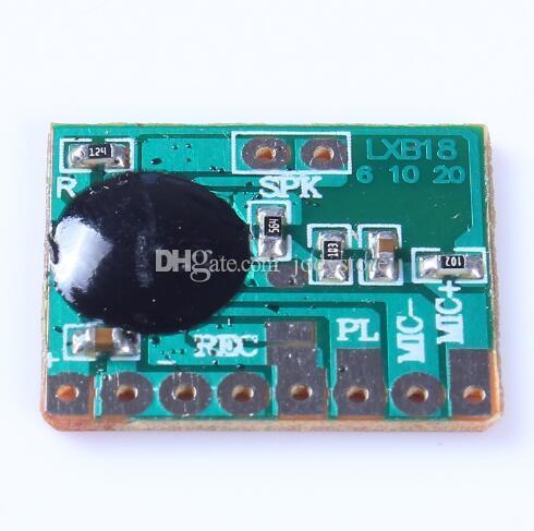 무료 배송! 5pcs / lot 6s 6secs 음성 녹음 칩 사운드 레코더 모듈 말하는 음악 오디오 기록 가능한 다이렉트 드라이브 스피커