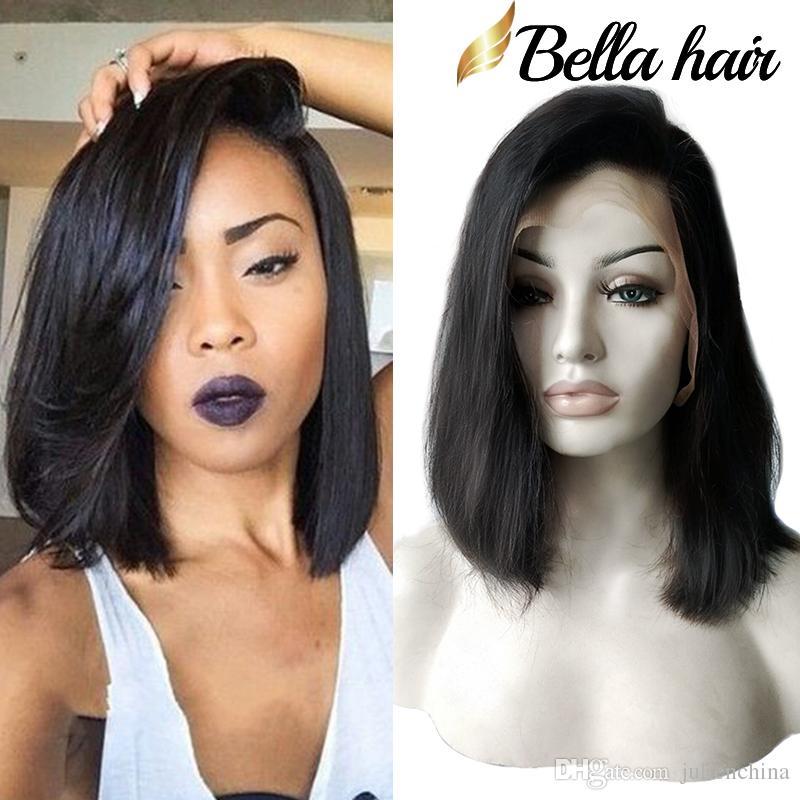 Bella hair® غلويليس الباروكات بوب قطع الباروكات الإنسان الشعر بوب كامل الرباط الباروكة للنساء الأسود كامل بشرة قصيرة بوب الدانتيل الباروكات freeshipping