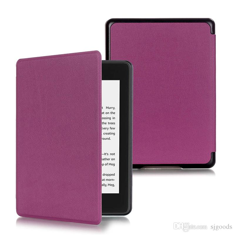 Magnetic Lihghtweight PU Leather Case for Amazon New Kindle Paperwhite 4 6 inch (2018 Release) E-reader+ Pen