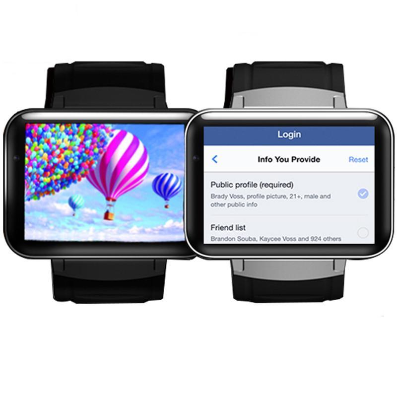 DM98 Smart Watch Android OS MTK6572 1.2 Ghz 2.2-дюймовый экран 900mAh аккумулятор 512 МБ оперативной памяти 4 ГБ Rom 3G WCDMA GPS WIFI Smartwatch