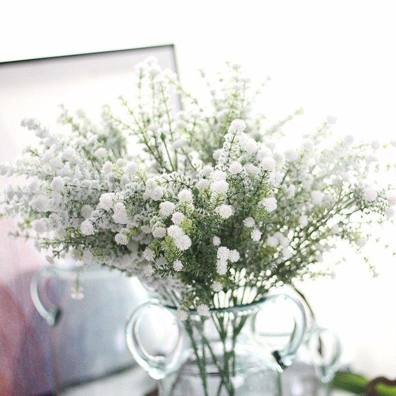 5 بانش الاصطناعي gypsophila الطفل التنفس وهمية الحرير babysbreath الزهور النبات الرئيسية حفل زفاف منتجات الديكور