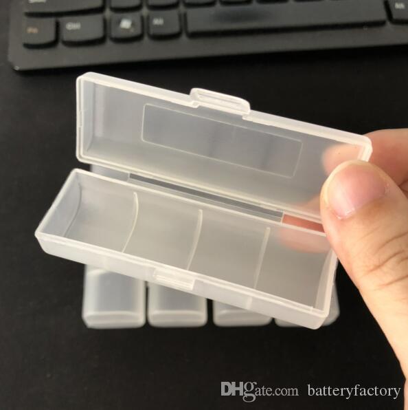 단일 18650 배터리에 대 한 새로운 흰색 플라스틱 저장 케이스 건강 소재 전자 담배 예비 부품